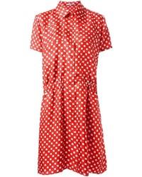 Carven Flower Print Shirt Dress