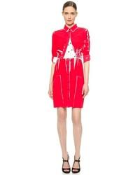 Victoria Beckham Victoria Overprint Combo Shirtdress