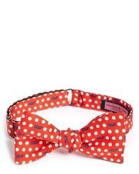 Vineyard Vines Polka Dot Whale Print Silk Bow Tie