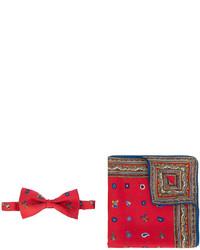 Christmas printed bow tie and pocket scarf set medium 4472007