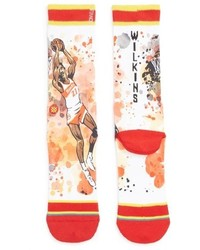 Stance Dominique Wilkins Nique Watercolor Print Socks