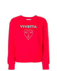 Red Print Sweatshirt