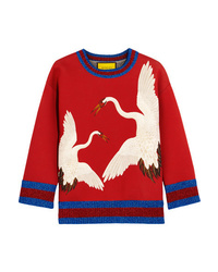 Gucci for NET-A-PORTE Printed Bonded Cotton Jersey Sweatshirt