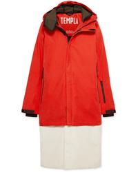 TEMPLA 3l Tombra Convertible Hooded Cotton Blend Ski Coat