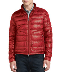 a1f9802a6 Men's Red Puffer Jackets by Moncler | Men's Fashion | Lookastic UK