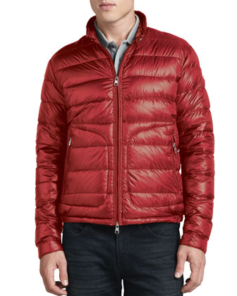 ... Moncler Acorus Lightweight Puffer Jacket Red