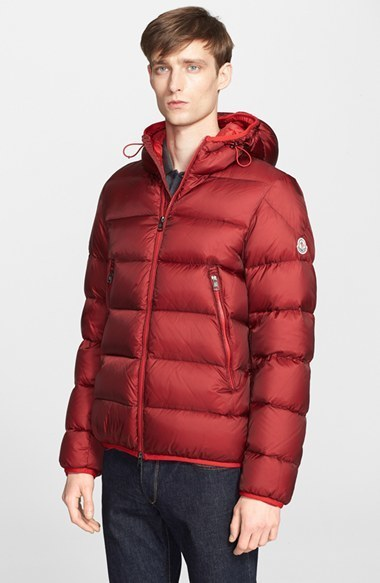 ... Red Puffer Jackets Moncler Chauvon Quilted Down Jacket ...