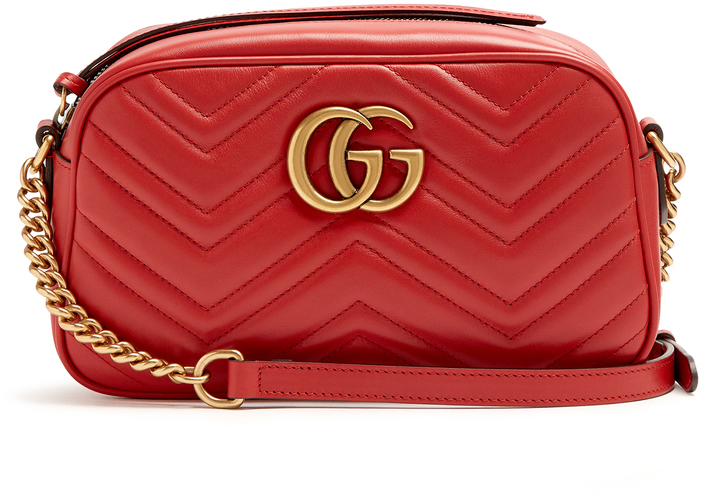 ... Gucci Gg Marmont Small Quilted Leather Cross Body Bag dce295358a1cf