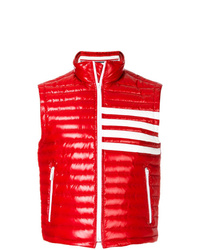 Thom Browne 4 Bar Stripe Quilted Down Fill Satin Finished Tech Vest