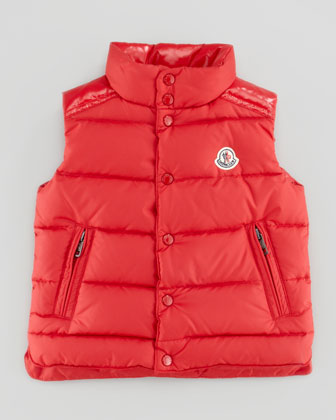 Moncler Boys Quilted Down Vest Red Sizes 8 10