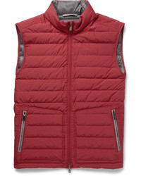 Canali Rain Wind Tech Quilted Down Filled Gilet