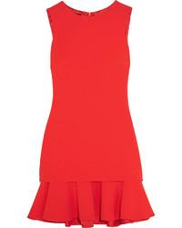 Red Ruffle Shift Dress
