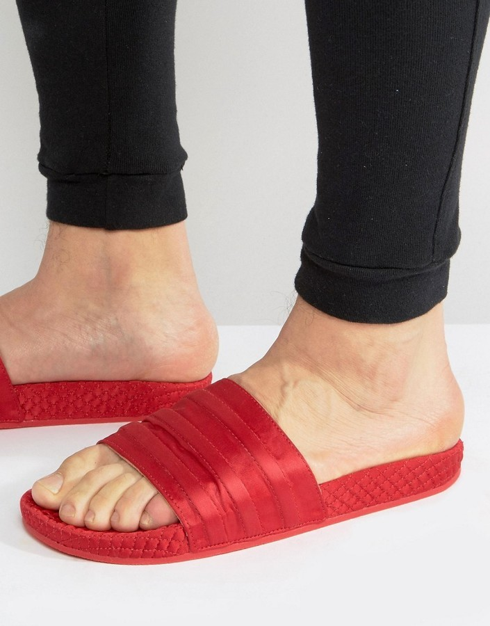 e7b359b6e6d ... adidas Originals Adilette Slides In Red Bb3112 ...