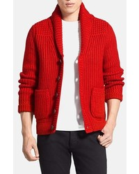Red Shawl Cardigan