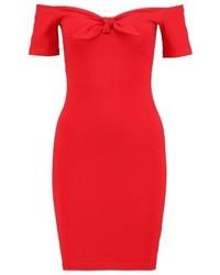 Miss Selfridge Tie Front Jersey Dress Red
