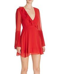 Keepsake Seasons Pleated Cuff Mini Dress