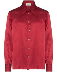 Gucci Embroidered Technical Satin Shirt