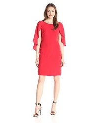 Donna Ricco Sheath Dress With Open Sleeves