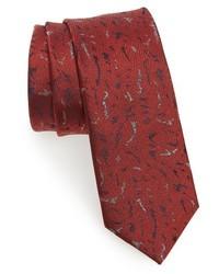 Lanvin Shadow Jacquard Silk Skinny Tie