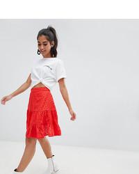 Asos Petite Asos Design Petite Broderie Mini Skirt