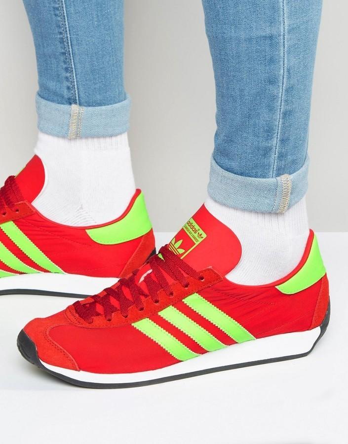 Men's Fashion › Footwear › Sneakers › Red Sneakers adidas Originals Country  Og Sneakers In Red S32117 ...