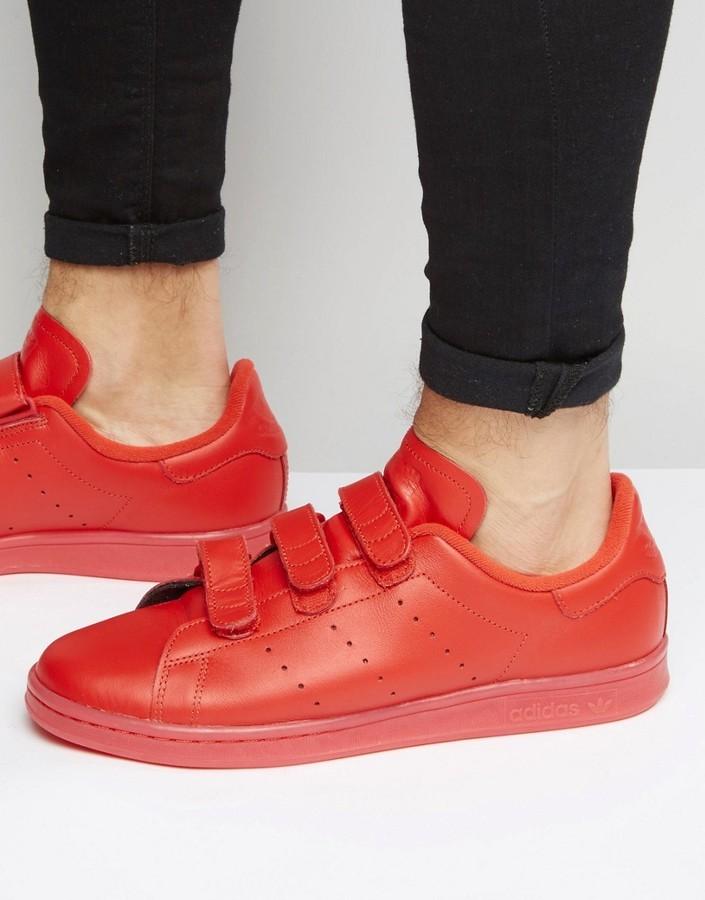 a3e580ff5904 ... adidas Originals Stan Smith Velcro Sneakers In Red S80043 ...