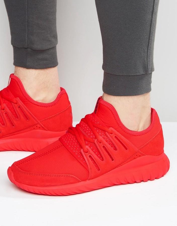 uusia kuvia virallinen luotettava laatu £92, adidas Originals Tubular Radial Sneakers In Red S80116