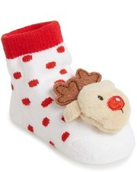 Mud Pie Infant Rattle Toe Socks Headband Set