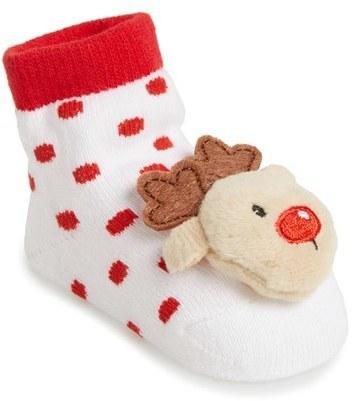 Mud Pie Infant Rattle Toe Socks Headband Set