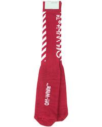 Off-White Ribbed Socks