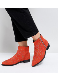 ASOS DESIGN Asos Auto Pilot Wide Fit Suede Studded Ankle Boots Suede