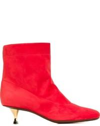 Lanvin Kitten Heel Ankle Boots