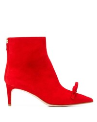 RED Valentino Red Bow Detail Ankle Boots