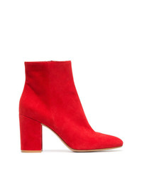 Gianvito Rossi Red Margaux 85 Suede Leather Ankle Boots