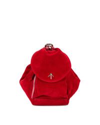 Manu Atelier Red Fernweh Mini Suede Backpack