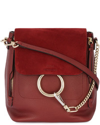 Chloé Red Leather Faye Backpack