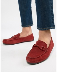 Kg Kurt Geiger Kg By Kurt Geiger Driving Shoes In Red Suede