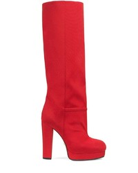 Gucci Ribbed Knee High Boots