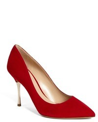 Red Suede Pumps