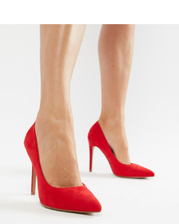 ASOS DESIGN Paris Pointed High Heeled Court Shoes In Red