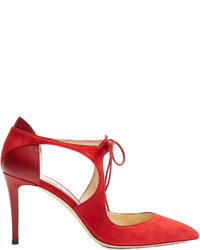 Jimmy Choo Vanessa 85mm Cut Out Suede Pumps