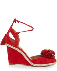 Sunshine suede fringed wedge sandals medium 1033981