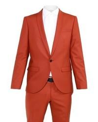 Noose & Monkey Ellroy Skinny Fit Suit Rust
