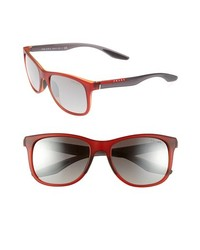 Prada 55mm Square Sunglasses Red One Size