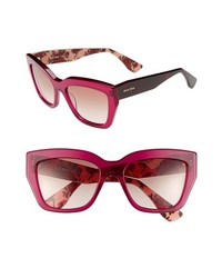 Miu Miu 56mm Sunglasses Red One Size