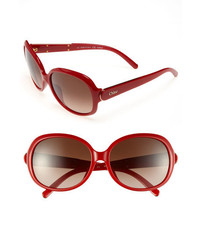 Chloé Chloe 59mm Oversized Sunglasses Red One Size