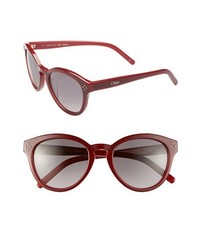 Chloé Chloe Boxwood 50mm Sunglasses Bordeaux Red One Size