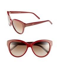 Chloé Chloe Suzanna 56mm Cat Eye Sunglasses Red One Size