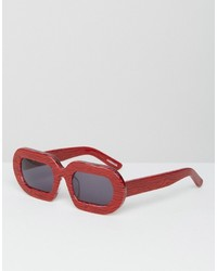 House of Holland Eggy Red Marble Sunglasses