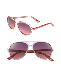 MICHAEL Michael Kors Michl Michl Kors 57mm Aviator Sunglasses Red One Size